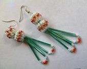 Tribal Earrings- Beaded Bead