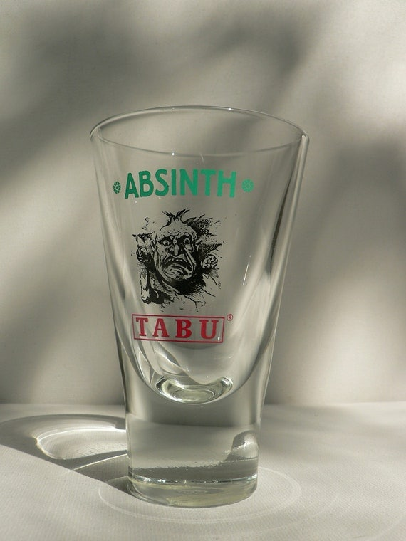 absinthe tumbler glass Tabu art deco style
