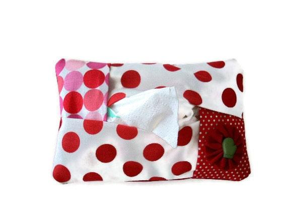 Tissue Cozy Travel Kleenex Holder Christmas Fabric Clearance