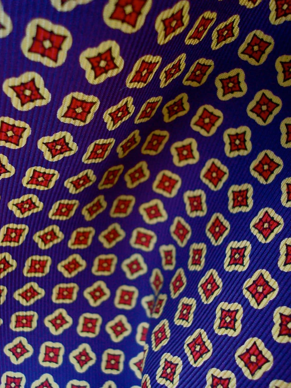 Printed Tie Silk Fabric A by WideEyedGirls on Etsy