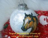 Buckskin Horse Ornament Handpainted OOAK
