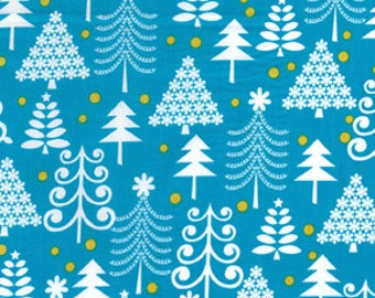 Michael Miller Holiday Trees Turquoise