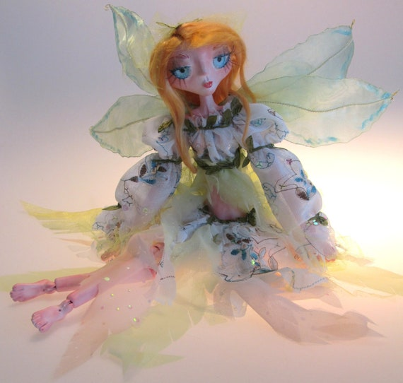 CORA Art Doll 14 inch tall a slender Fairy ball jointed doll OOAK