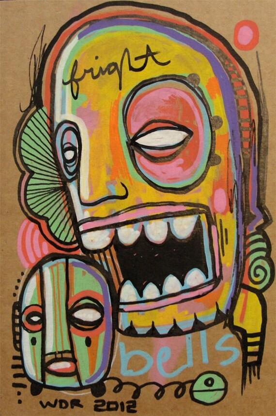 Fright Bells - Original illustration on Cardboard