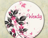 Personalized Bridesmaid Gift, Pocket Mirror, Wedding Favor, Shower Favor