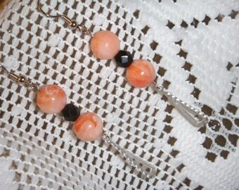peaches and cream earrings silver