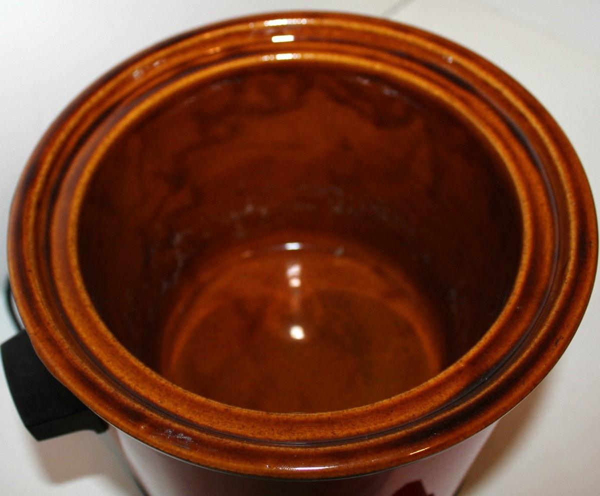 Vintage Rival Crock Pot Slow Cooker Model 3100 3 5 Qt Glass