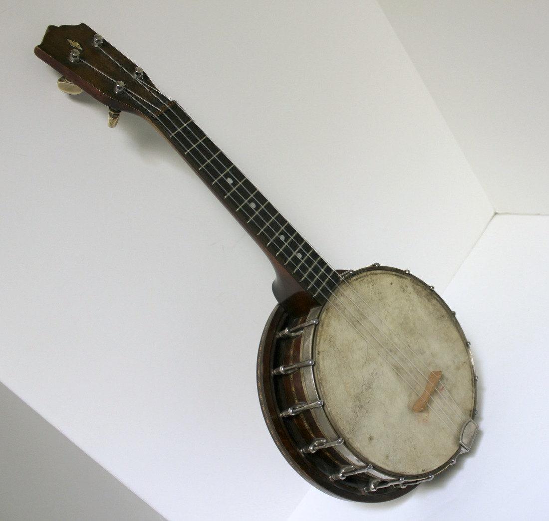 Vintage Banjo Uke Ukulele With Resonator Stromberg Kay With