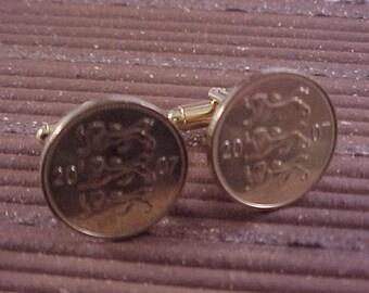 Estonia Coin Cuff Links