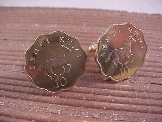 Tanzania Uncirculated Coin Cuff Links