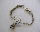 Chain Bracelet, Acorn Bracelet, Branch Bracelet, Pine Cone Bracelet, Twig, Twig Bracelet, Fall Jewelry, Pinecone, Winter Wedding