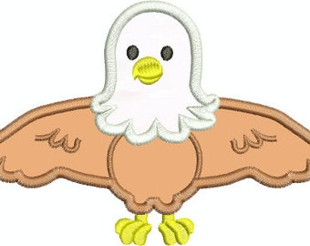 Applique Baby Eagle Embroidery Design-Includes 3 Sizes