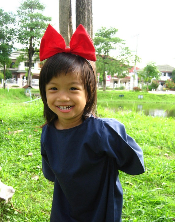 Kiki's delivery service cosplay Kid dress with red Hair band 4T size ( 2 - 4 years old)