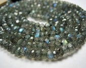 Labradorite Rondelles, Flash and Faceted, 3.5mm. pkg of 12... (GLB1). Reduced from 3.90