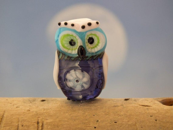 Adam.... lampwork owl bead.. sra