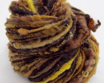 51 yds, bulky corespun, handspun yarn, 'Mossy Bank'
