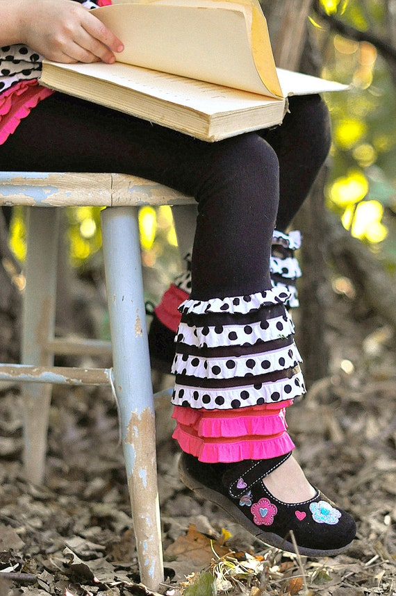 Polka Pink Ruffle Leggings Limited