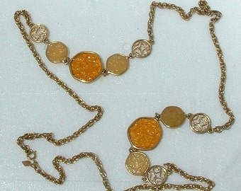 Vintage Sarah Coventry TASTE OF HONEY Necklace