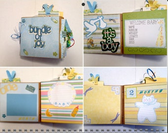 Baby Boy First Year Paperbag Album