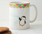 Fly High Penguin Mug Cup