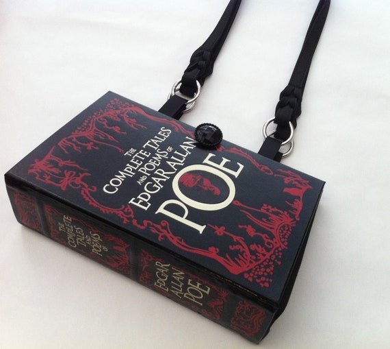 Complete Tales of Edgar Allan Poe Recycled Book Purse - The Raven Book Purse