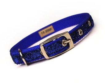 SALE - royal blue sparkle dog collar (1/2 inch)