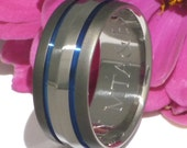 Titanium Wedding Band - b17 sable