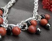 Red Jasper and Hemalite Jewelry Three piece Set  ONSALENOW