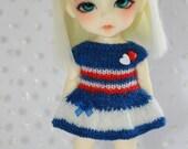 Lati Yellow PukiFee - Stripes and Hearts - Mohair Dress - RoyalBlue Red
