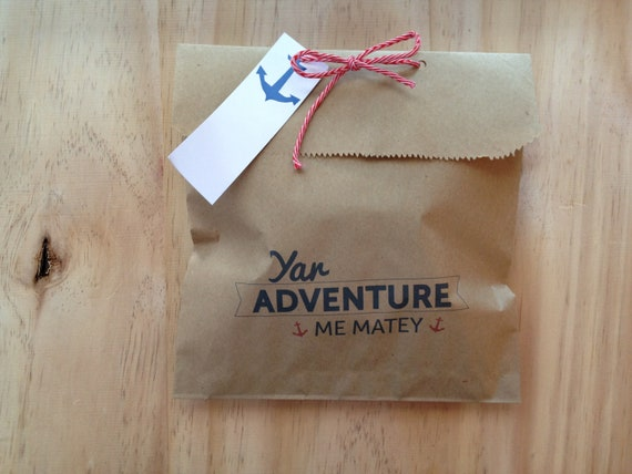 Favour Bag Kit of 4 - Ya Adventure Me Matey