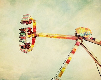 BUY 2 GET 1 FREE Carnival Photography, Nursery Art, Kids Room, Vintage Inspired, Bokeh, Wall Decor - Sideways