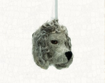 Needle Felted Ornament Standard Poodle Wool