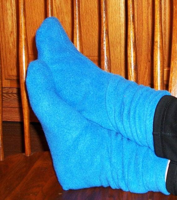 Slouchy Fleece Slipper Socks Pdf Sewing Pattern From ...