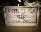 Digital Download No. 418, French Antiques Advertisement, Image Transfer