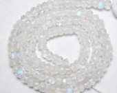 """Fire Rainbow Moonstone 4-4,5mm Faceted Rondelle 13.5"""" Strand A Plus Etsy-A"""