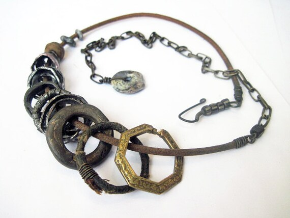 Ceremonial Magic. Rings and Hoops Rustic Neckwear.
