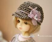 Jiajiadoll- hand knitting-Coffee Flower straw hat fits YOSD 1/6 BJD