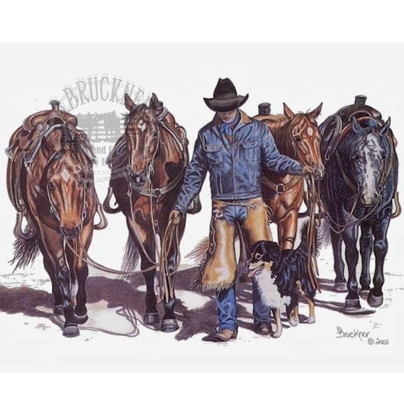 Cowboy Accessories Original Colored Pencil - B Bruckner