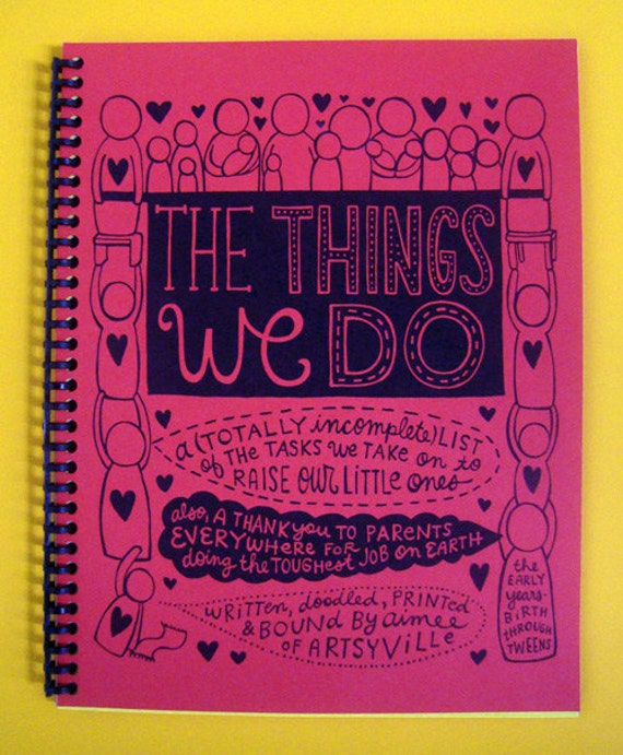 The Things We Do (doodle book w/red cover)