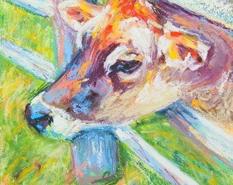 Cow Painting, canvas print, Welcome Committee