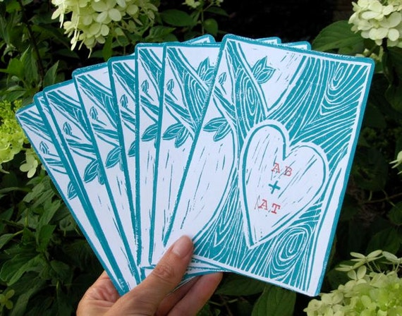 12 POSTCARDS Wedding/Engagement: Thank You, Shower or Just Because