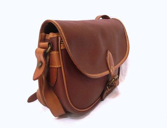 UPLA French Vintage Brown Satchel / Shoulder Bag / Crossover Bag