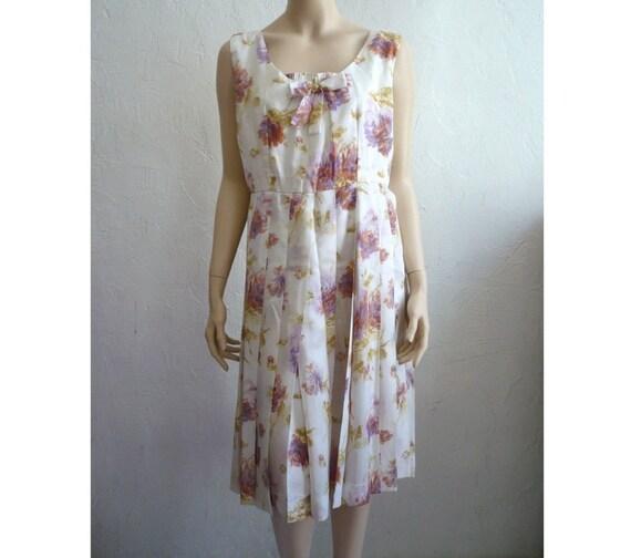 ELZA French Vintage 50s Tea Party Dress