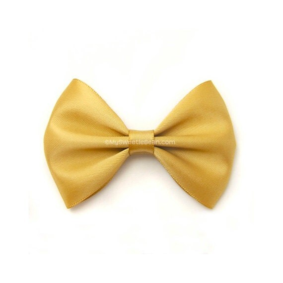 ... Bow Pale Mustard Satin Hairbow Toddler Hairbows for Girls Babies Women