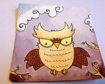 Owl Illustration - Flight