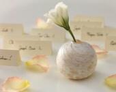 White and Ivory Mini Bud Vase