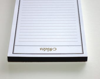black notepad, 3.5 x 5.5