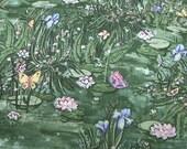 Lily Pond cotton fabric 1 yard No 25-fabric sale