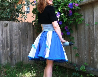 Blue y Purple Blueberry Surprise Cupcake skirt with lace and bows