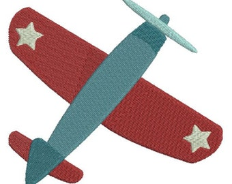 Patriotic Air Plane Airplane Machine Embroidery Designs 4x4 & 5x7 Instant Download Sale